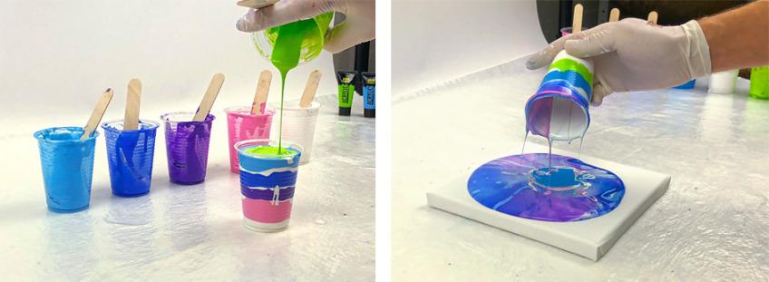 acrylic pouring anleitung
