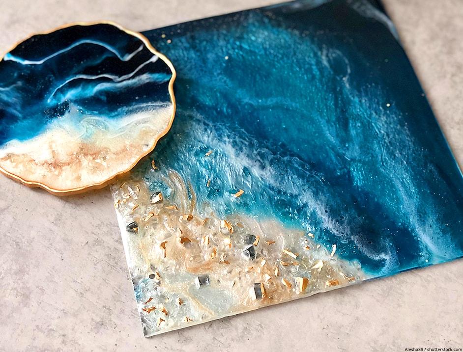 resin beach art