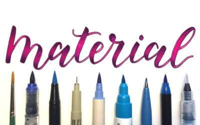 Handlettering Material – Die wichtigsten Utensilien zum Lettern