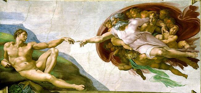michaelangelo die erschaffung adams