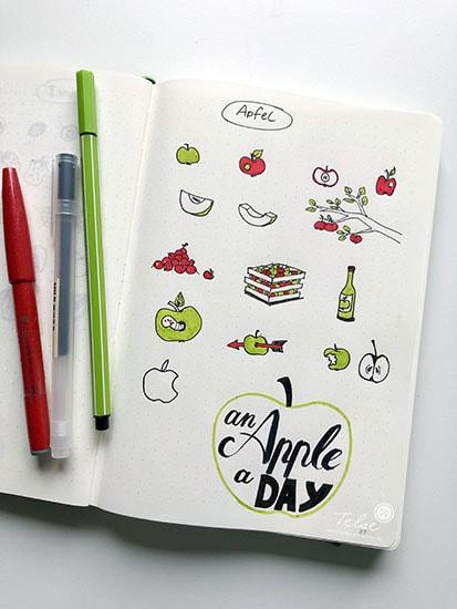 sketchnotes-symbole-apfel