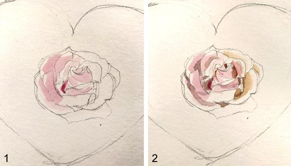 rose zeichnen tutorial