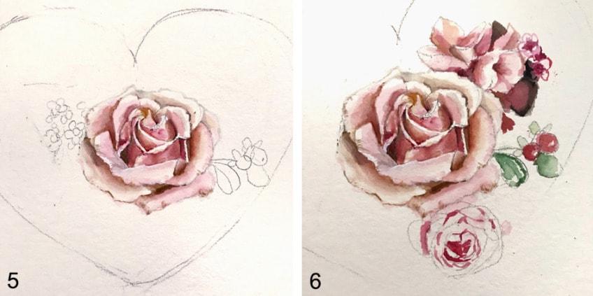 rose zeichnen lernen
