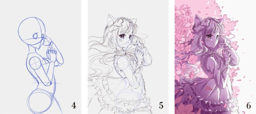 manga zeichnen arbeitsschritte 2