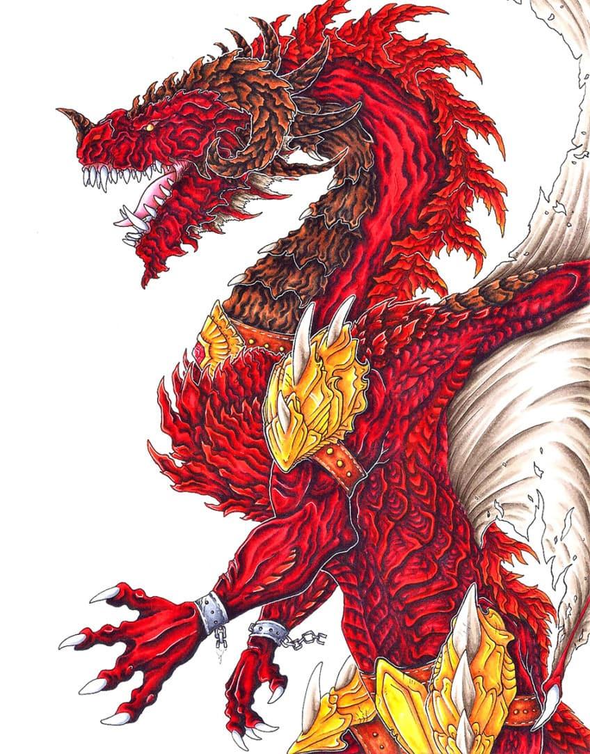 drache gezeichnet