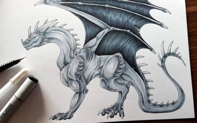 Drachen zeichnen – Fantastische Wesen aus fantastischen Welten