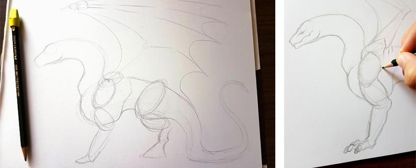 drachen zeichnen anleitung2