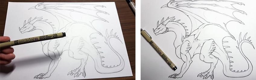 drachen zeichnen anleitung7
