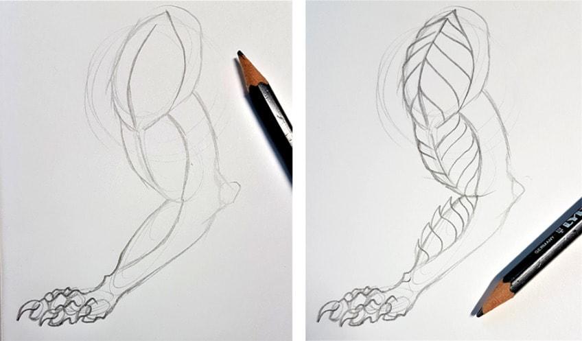 schuppen zeichnen anleitung1