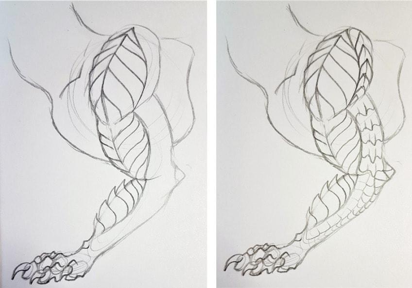 schuppen zeichnen anleitung2