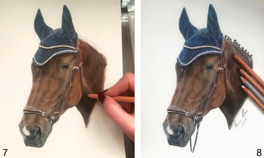 pferdekopf zeichnen