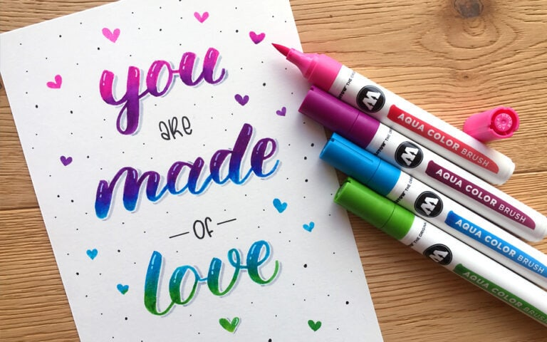 Produkttest: MOLOTOW Marker Aqua Color Brush, Blackliner und ONE4ALL