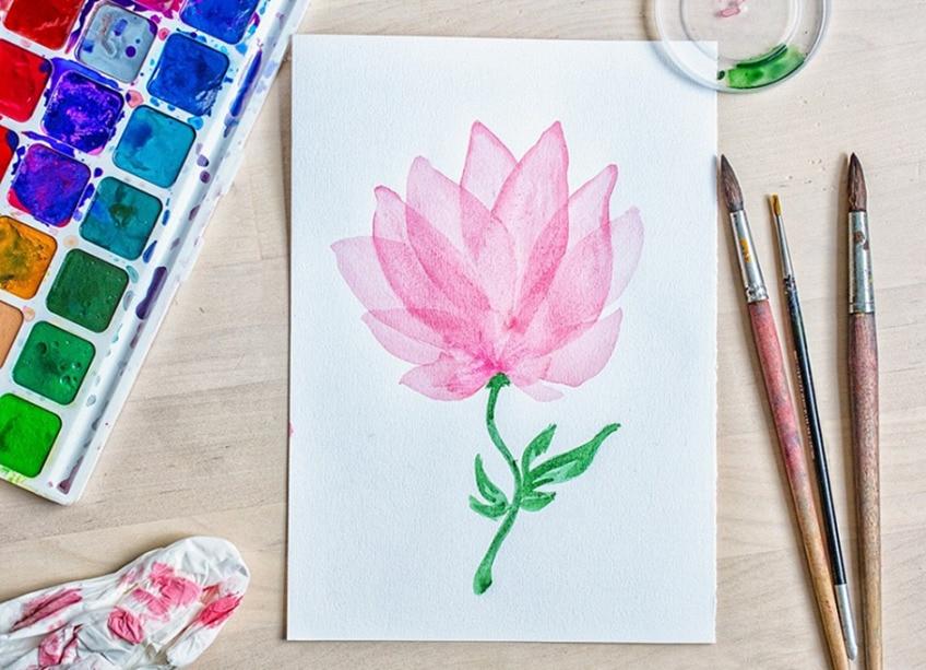 aquarellmalerei blumen
