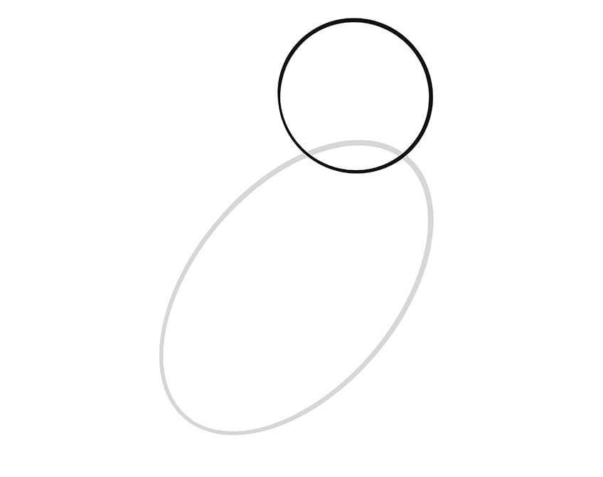 eule zeichnen schritt 02
