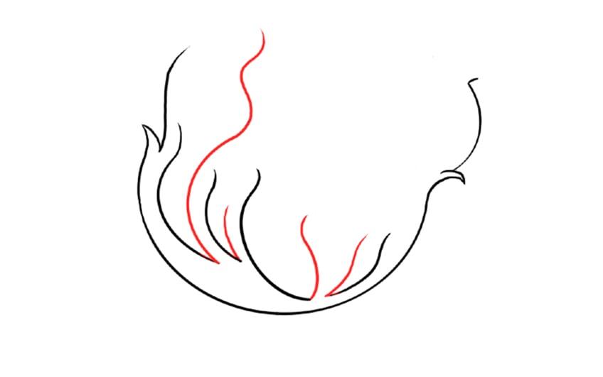 feuer zeichnen schritt 04a