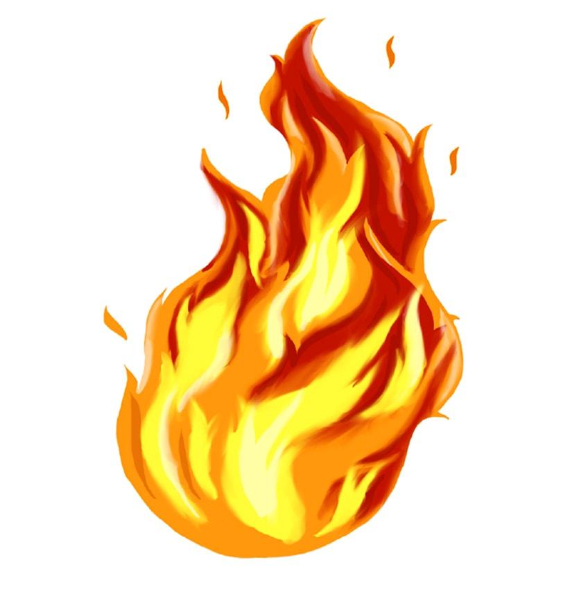 flammen malen