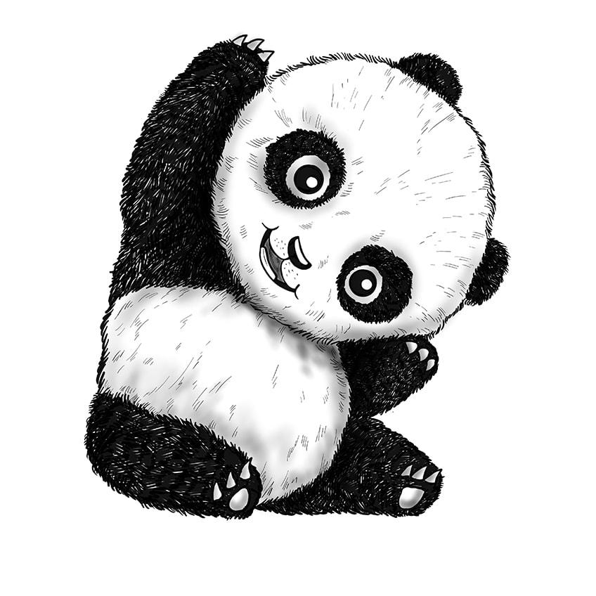 panda malen