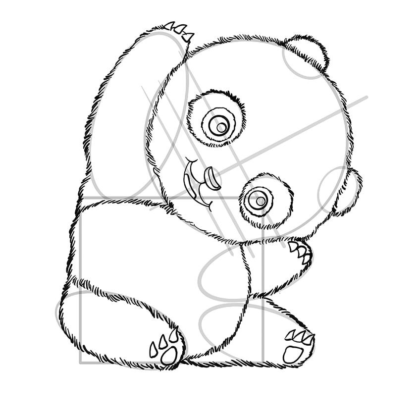 panda skizze