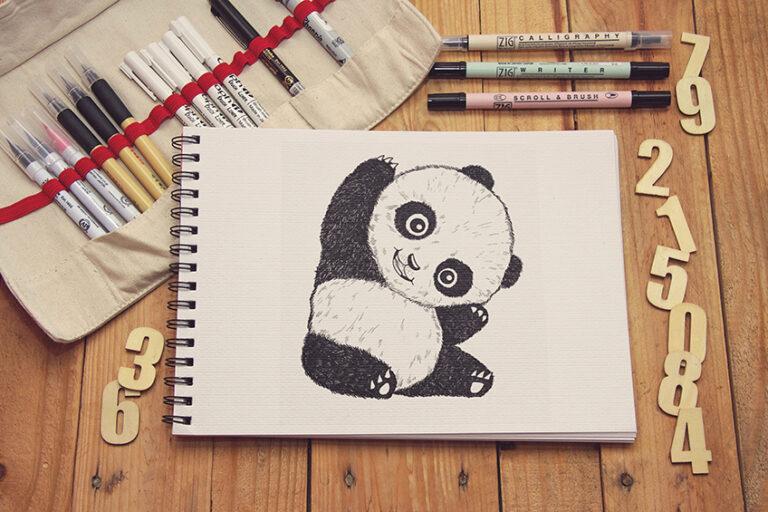 Panda zeichnen – In einfachen Schritten zu deiner ersten Panda Zeichnung