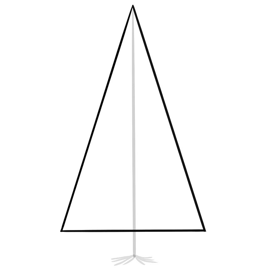 nadelbaum zeichnen schritt 03