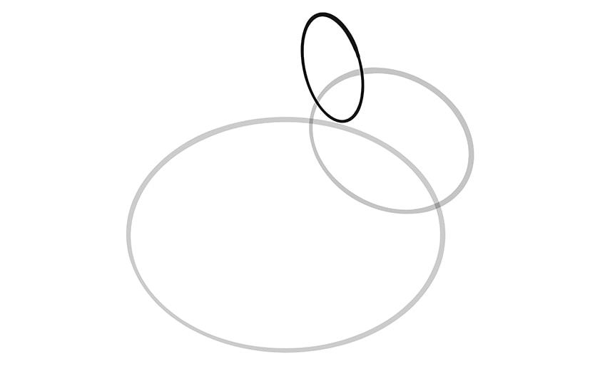 Osterhase zeichnen Schritt 03