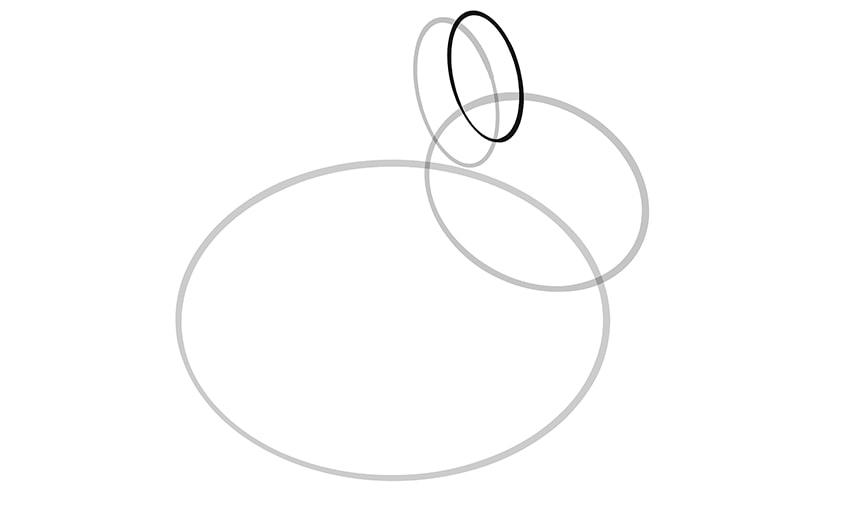 Osterhase zeichnen Schritt 03a