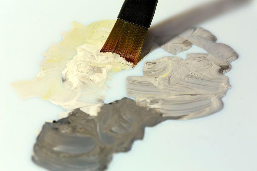 farbe grau mischen