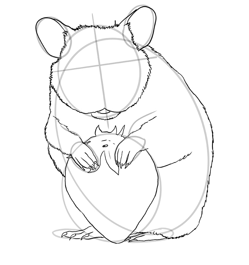 hamster zeichnen schritt 10