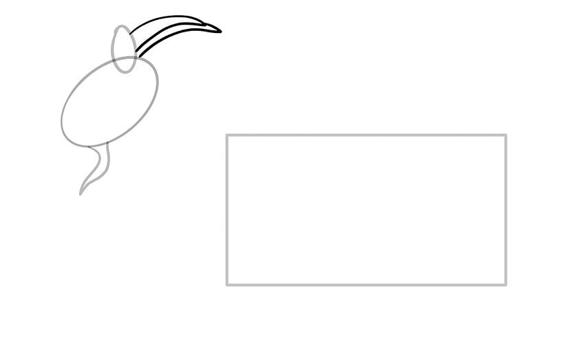 Ziege zeichnen 04