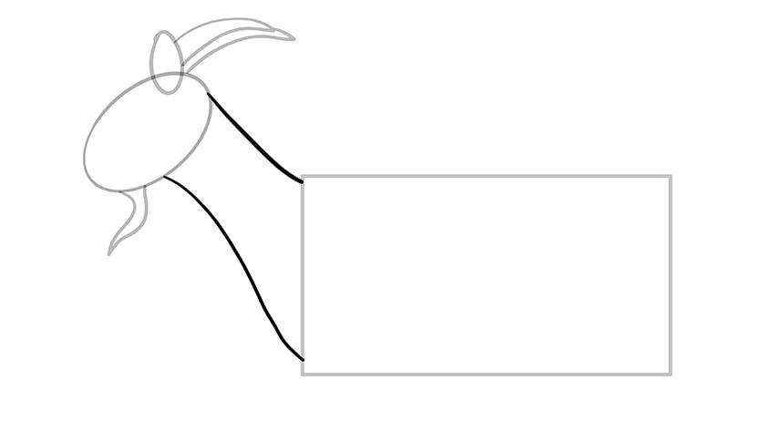 Ziege zeichnen 05